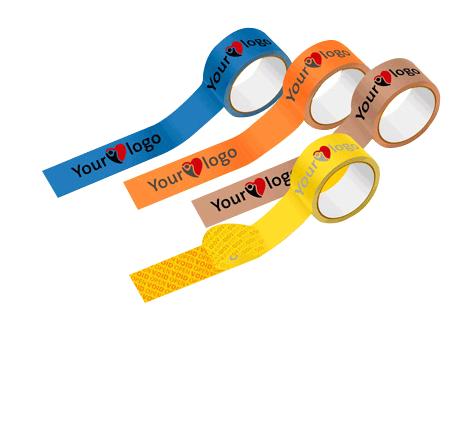 Custom parcel tape header