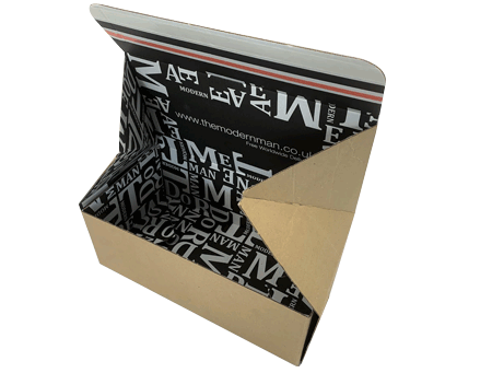 Custom postal box header
