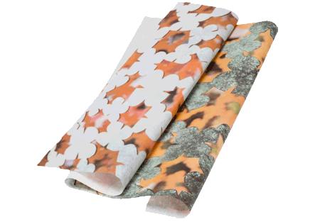 Custom tissue paper header