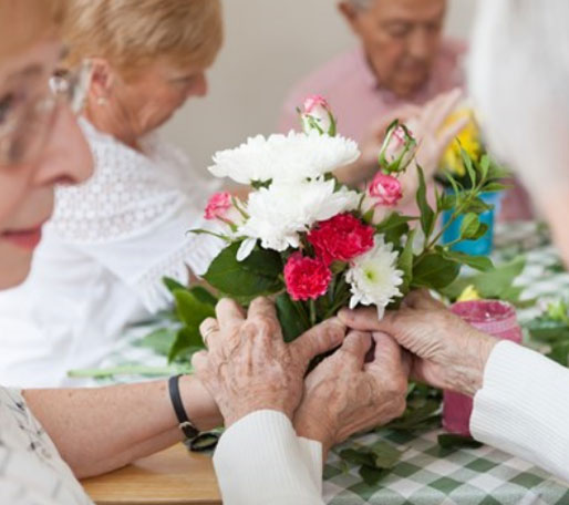 Heart of Kent Hospice flowers shot