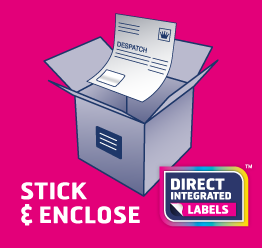 Stick label on package and enclose despatch form