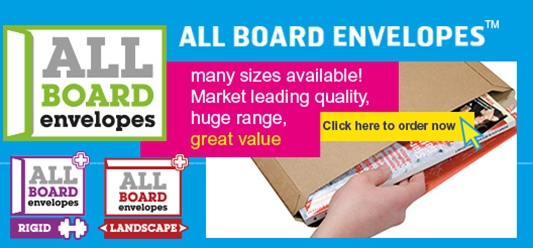 All Board Envelopes - including Rigid and Landscape 'Plus' range