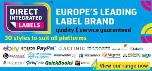 Direct Integrated Labels - compatible with Amazon, eBay, PayPal and more