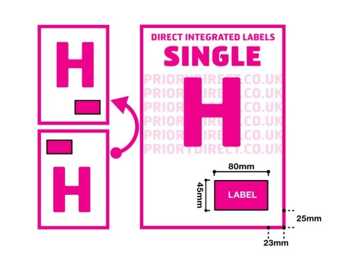 Single Integrated Label - Style H