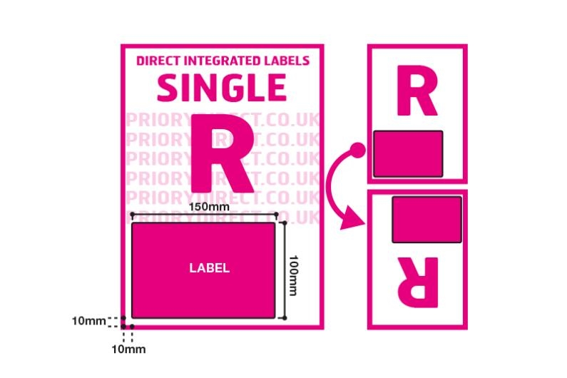 Royal Mail 2D Barcode Labels - Single Style R