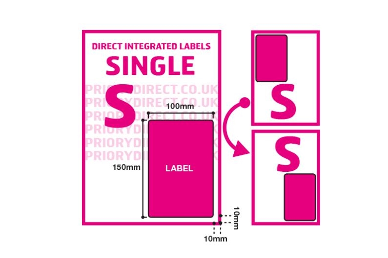 Royal Mail 2D Barcode Labels - Single Style S