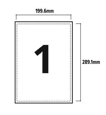 1 Per Sheet A4 Labels - Round Corners  - 2
