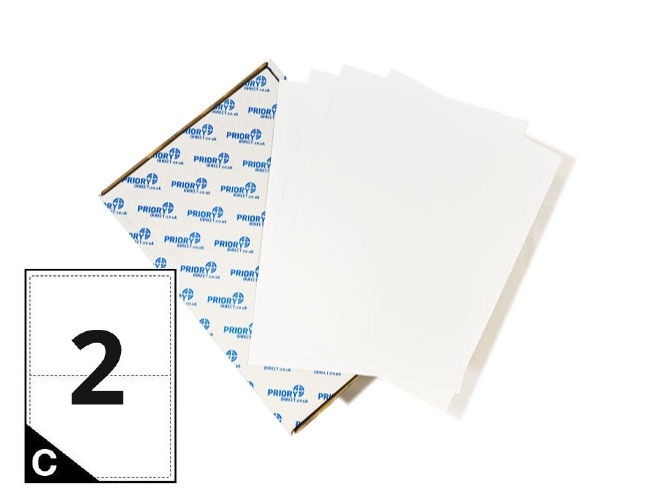 2 Per Sheet A4 Labels - Round Corners