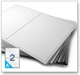 2 Per Sheet A4 Labels - Round Corners  - 4