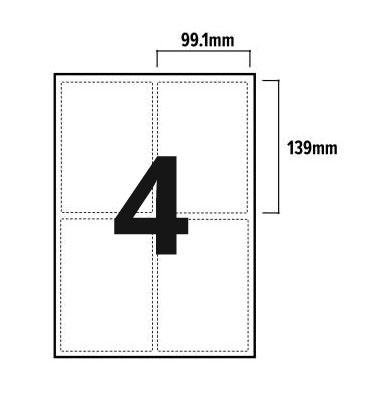 4 Per Sheet A4 Labels - Round Corners - 3