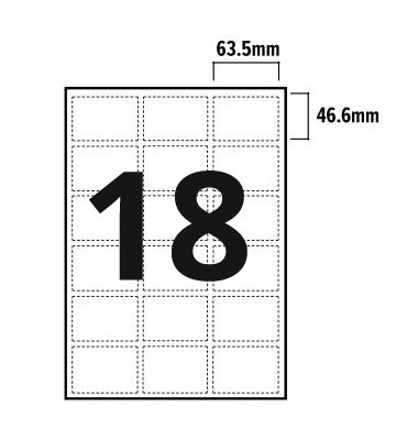 18 Per Sheet A4 Labels - Round Corners  - 3