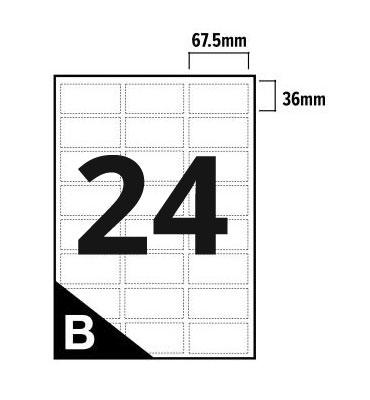 24 Per Sheet A4 Printer Labels - Round Corners - 3