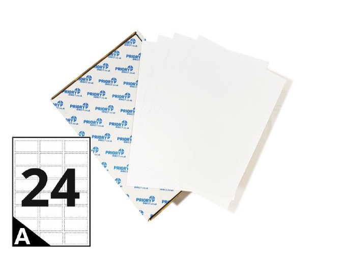 24 Per Sheet A4 Labels - Round Corners