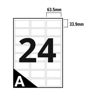 24 Per Sheet A4 Labels - Round Corners  - 2