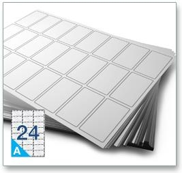 24 Per Sheet A4 Labels - Round Corners  - 4