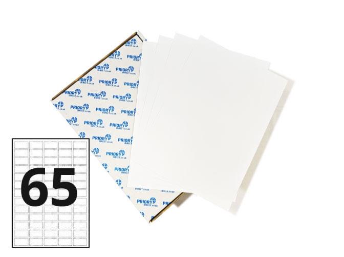 65 Per Sheet A4 Labels - Round Corners