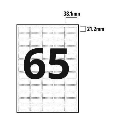 65 Per Sheet A4 Labels - Round Corners - 2