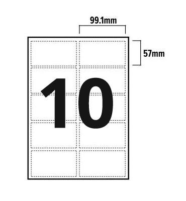 10 Per Sheet A4 Labels - Round Corners  - 2