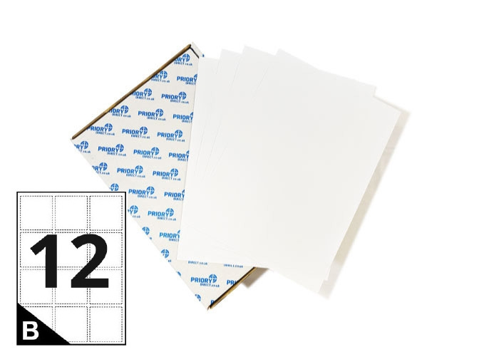 12 Per Sheet A4 Printer Labels - Round Corners