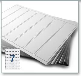 7 Per Sheet A4 Labels - Round Corners - 4