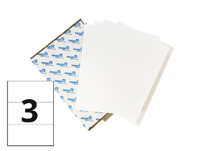 3 Per Sheet A4 Labels - Square Corners