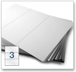 3 Per Sheet A4 Labels - Square Corners - 5