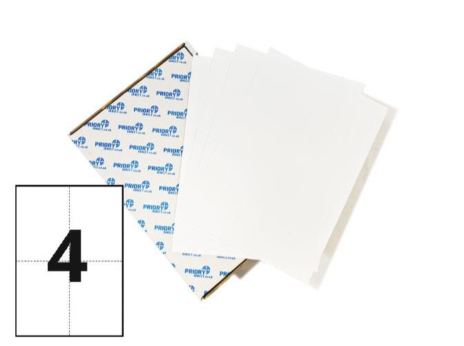 4 Per Sheet A4 Labels - Square Corners