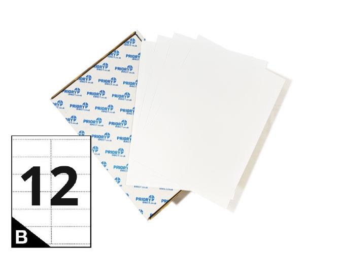 12 Per Sheet A4 Printer Labels - Square Corners