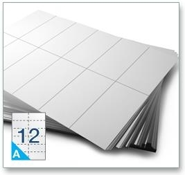 12 Per Sheet A4 Labels - Square Corners  - 5