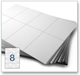 8 Per Sheet A4 Labels - Square Corners - 5
