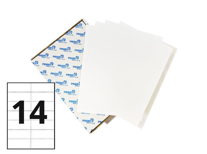 14 Per Sheet A4 Printer Labels - Square Corners