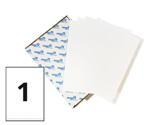 1 Per Sheet A4 Labels - Square Corners