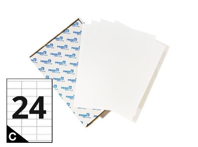 24 Per Sheet A4 Printer Labels - Square Corners