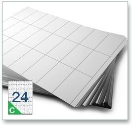 24 Per Sheet A4 Printer Labels - Square Corners - 5