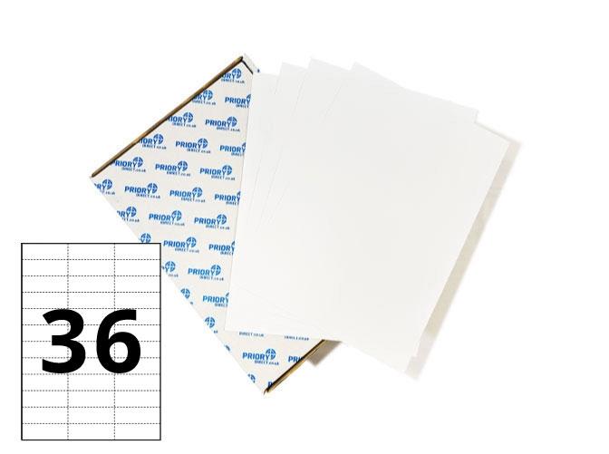 36 Per Sheet A4 Labels - Square Corners