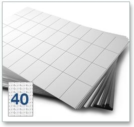 40 Per Sheet A4 Labels - Square Corners - 4