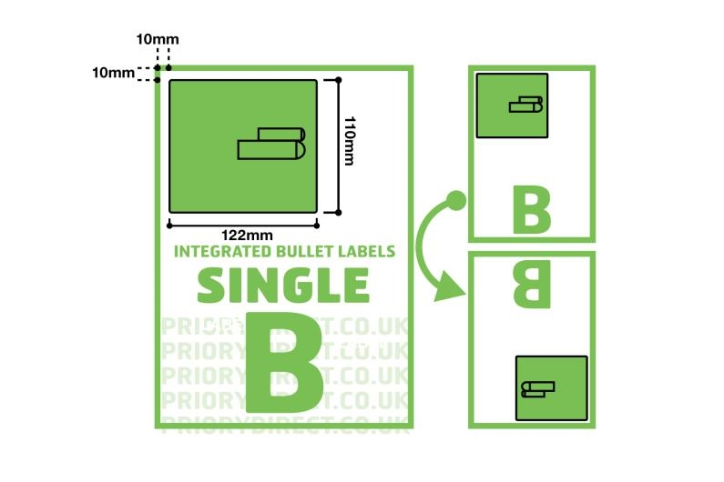 Single Label with Integrated Bullet Labels Style B