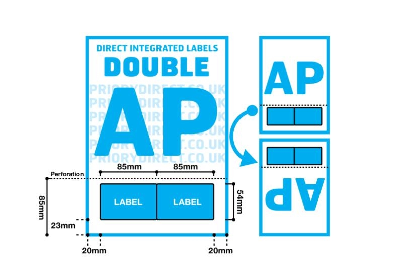 Double Integrated Label With Perforation - Style AP