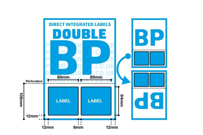 Double Integrated Label With Perforation - Style BP