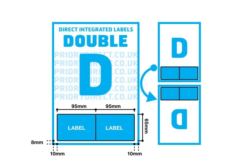 Double Integrated Label - Style D