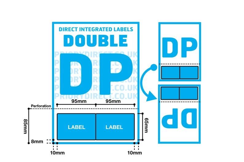 Double Integrated Label With Perforation - Style DP