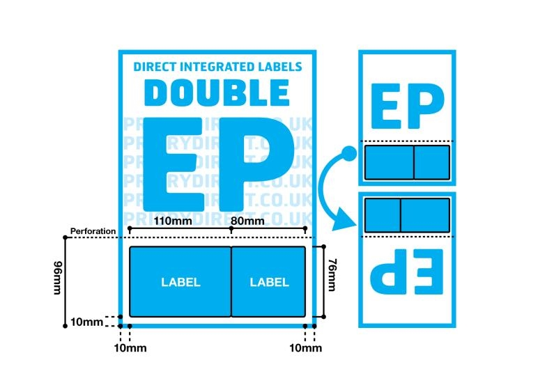 Double Integrated Label With Perforation - Style EP