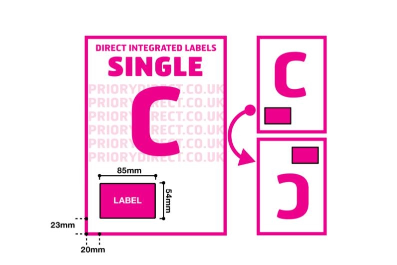 Single Integrated Label - Style C