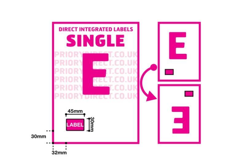 Single Integrated Label - Style E