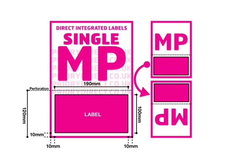 Royal Mail Integrated Labels - Single Style MP With Perforation