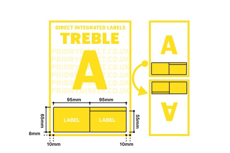 A4 Treble Integrated Label - Style A