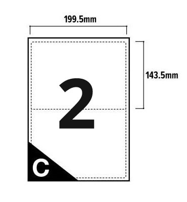 2 Per Sheet A4 Labels - Round Corners  - 3