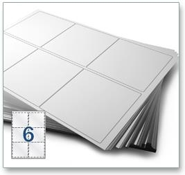 6 Per Sheet A4 Labels - Round Corners - 4
