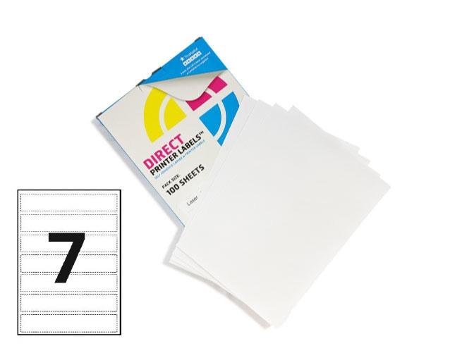 7 Per Sheet A4 Labels - Round Corners