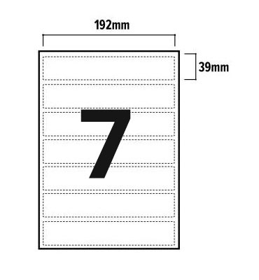 7 Per Sheet A4 Labels - Round Corners - 3